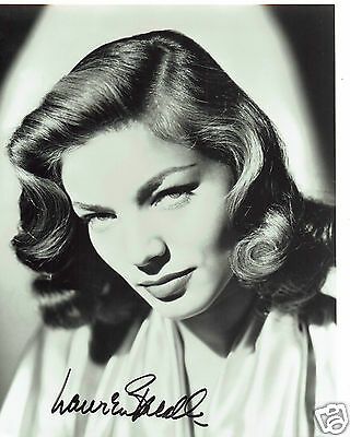 Lauren Bacall American  Actress  Hand Signed Photograph 10 x 8