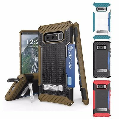 For Galaxy Note 8 Tri Shield Hybrid Armor Flagship Holster CLIP Rugged Case