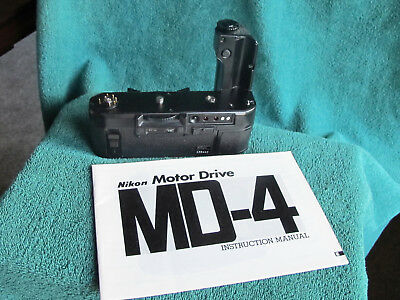Nikon MD-4 Motor Drive for F3 F3HP Late Production Unit Tested & Manual & Batts