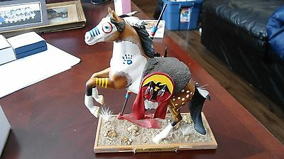 """15"""" War Cry Masterpiece Collection - The Trail Of Painted Ponies Figurine - 4018"""