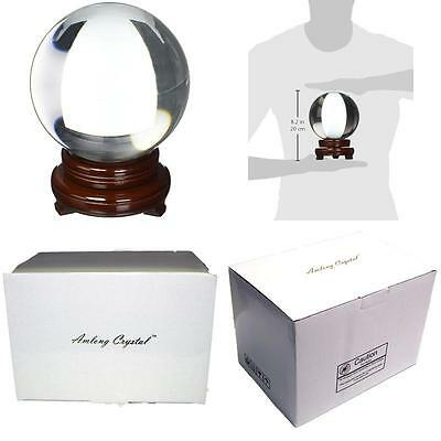 No Tax Deal! Amlong Crystalclear Crystal Ball 150Mm 6 In. Including Wooden Stand