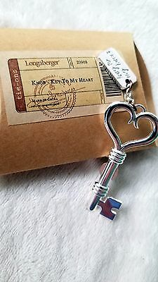 Longaberger Key To My Heart Knobs