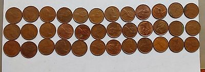 50 Half Pence ½p Old Penny Coins UK GB Decimal Copper Elizabeth II 1971 -1980