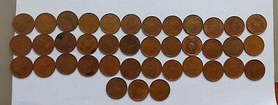 39 Half Pence ½p Old Penny Coins UK GB Decimal Copper Elizabeth II 1971 -1980