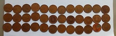 36 Half Pence ½p Old Penny Coins UK GB Decimal Copper Elizabeth II 1971 -1980