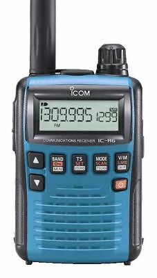 Icom IC-R6 Sport (Blue) Receiver, 0.10-1309MHz - Requires 2 x AA Batteries