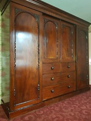 Victorian mahogany linen press (deceased estate)