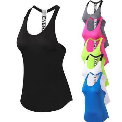 Womens Fashion Yoga Vests Gym Fitness Running Jogger Training Tank Top Backless
