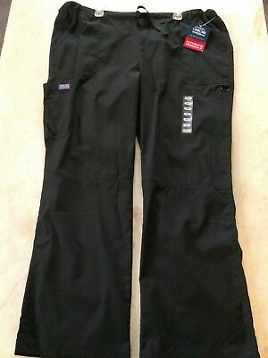 Cherokee Workwear Originals Black Cargo Scrub Pants 4020 Size Xl New With Tags