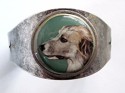 Great Pyrenees original art cuff bracelet
