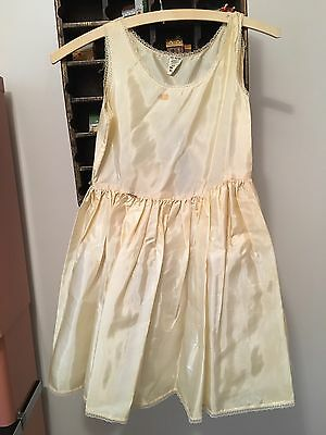 Vtg 50's-60's Little Girl's 2-Layer Full Slip Petticoat 100% Acetate & Nylon Sz