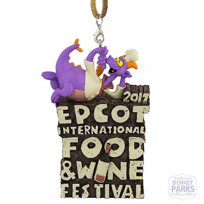 Disney Parks 2017 Figment Epcot Food and Wine Festival Logo Ornament