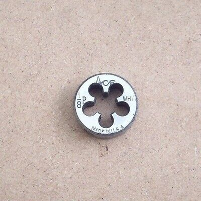 """1/8 WHIT BRITISH PIPE DIE ~ 1"""" O/D ~ 1/8 X 28 TPI ~ BSP or GAS ~ MADE IN USA"""