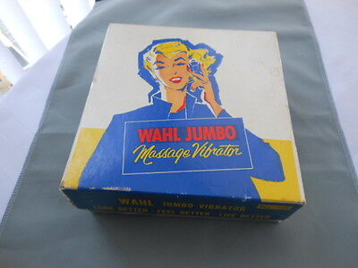 VINTAGE WAHL JUMBO MASSAGE VIBRATOR No. 131 WORKS! with original box instruction