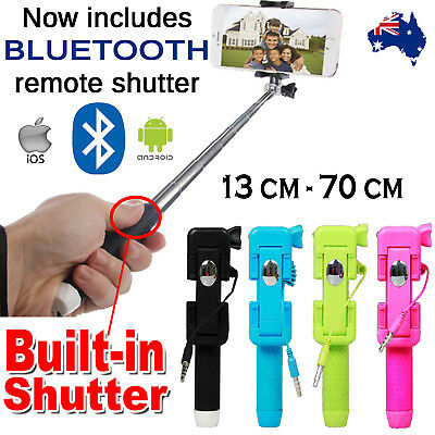 Pocket Sized Extendable Selfie Stick | Built-In Photo Shutter Button | Universal