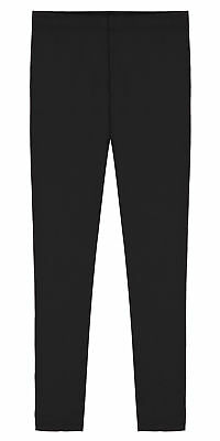 Girls Premium Soft Cotton Ankle Length Leggings, Sizes 2-16, Various Colors