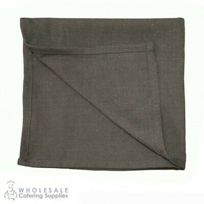 5x Napkin Serviette Rustic Grey Cafe Restaurant Table Linen Textured Homespun
