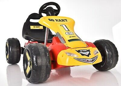 Electric Rechargeable Double Powered Kids Go Kart Ride On Toy Racing Car + Pedal
