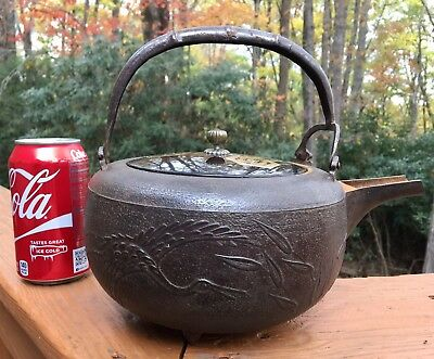 Antique Japanese cast iron teapot
