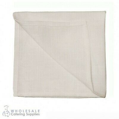 5x Rustic White Napkin Serviette, Cafe Restaurant Quality Textured Homespun Feel