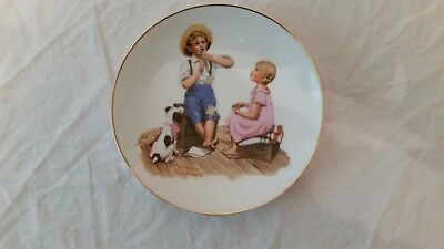 """Norman Rockwell 1984 Collector Plate 6.5"""" Music Master"""