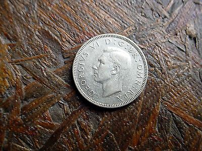 1940 Great Britian One Shilling Slver Coin - Must See