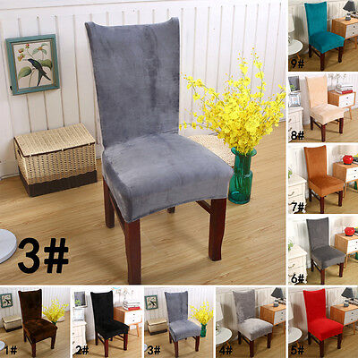 Removable home soft Stretch Slipcovers Short Dining Room Stool Seat Chair Cover