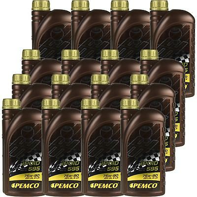 16x1 LITRE GENUINE Pemco Transmission Oil ipoid 595 75W-90 Gear Oil Oil
