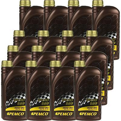 16x1 LITRE GENUINE Pemco Transmission Oil ipoid 589 80W-90 Gear Oil Oil