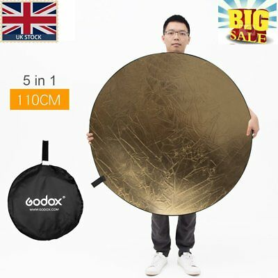 "Big Sale! Godox 5in1 110cm 43"" Light Diffuser Round Reflector Disc+Carrying Bag"