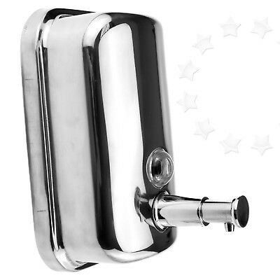 New Stainless Steel Wall Mounted Soap/Shampoo Dispenser Pump Action 500ml
