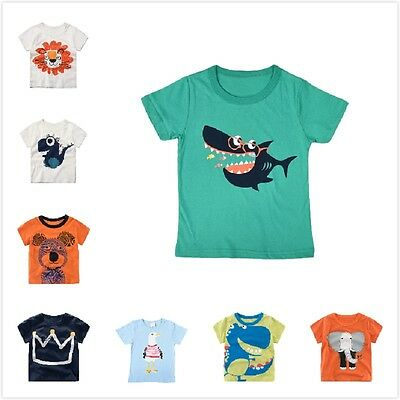 Summer Children Kids Girls Boys Cool Cartoon Casual T-Shirt Tops Tee Blouse NEW