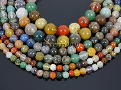 Natural Mixed Jasper Gemstone Round Spacer Beads 15.5'' 4mm 6mm 8mm 10mm 12mm