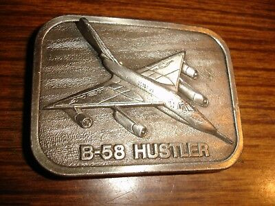 1983 Buckle Connection B-58 Hustler Military Aircraft Us Made Unused Belt Buckle