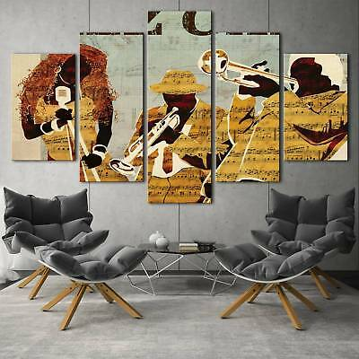 Modern music nation 5PCS HD Canvas Print Home Decor  Picture Wall Art Painting
