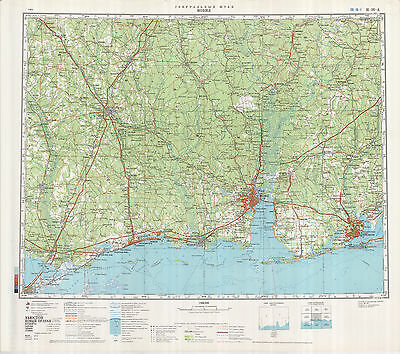 RUSSIAN SOVIET MILITARY Topographic Maps State ALABAMA USA - Military topographic maps