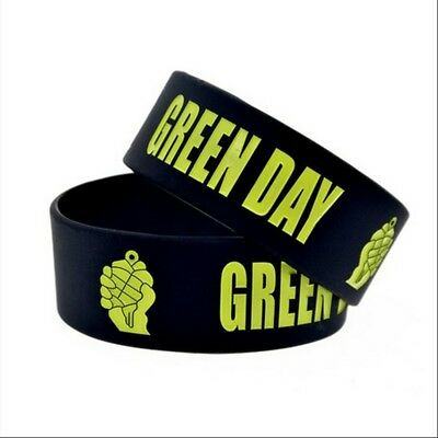 Green Day rock band Silicone Rubber Wristband bracelet jewelry gift