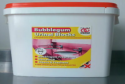 Urinal Channel Blocks - New!!! Bubblegum Fragranced 3.25kg