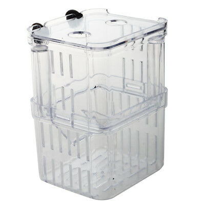 Clair Plastique rectangle Separee Elevage alevins Reservoir Separation Aquarium