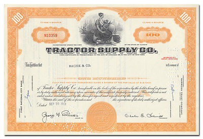 Tractor Supply Co. Stock Certificate