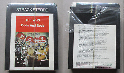 the who Odds and Sods 8 track Rare Sealed unplayed Track records
