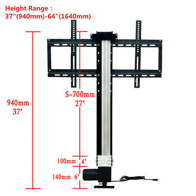 "700mm  Motorised TV Lift with Mount Bracket & wireless Controller for 26""-57"""
