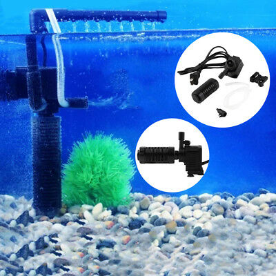 200l/h 2W Aquarium Pond Internal Filter for Fish Tank Submersible NEW ~Y