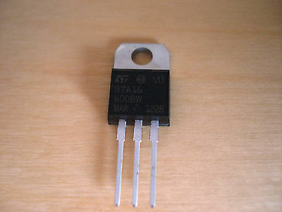 1x BTA16-600BW Triac Thyristor 16A 600V TO220
