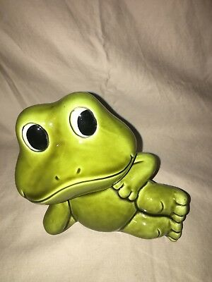Sears Roebuck Neil the Frog 1977 Ceramic Piggy Coin Bank Vintage