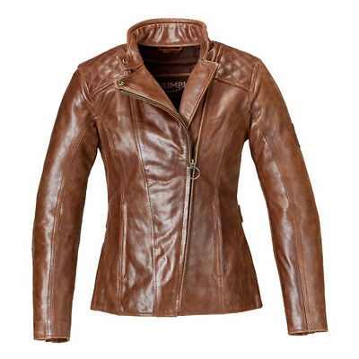 Triumph Motorcycles Women's Leather Barbour Jacket with D3O Armor MLLS17106