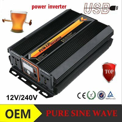 2000W Voiture Power Inverter DC 12V AC 220V Convertisseur électronique Port USYF