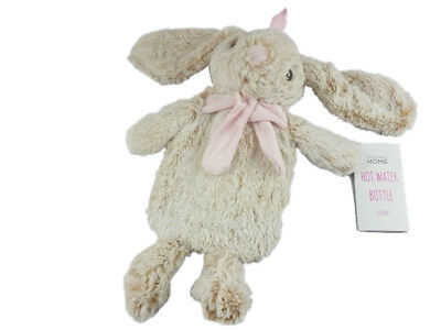 PRIMARK  FLUFFY / SOFT - BUNNY - HOT WATER BOTTLE - WITH BOTTLE 1000 ml