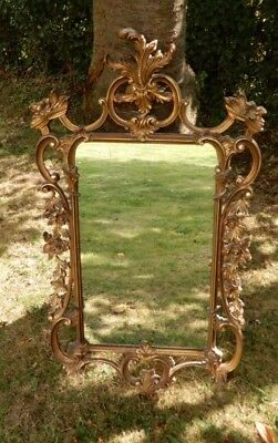 Striking Large Gilt wall mirror with scrolled foliate design, 19th century Style