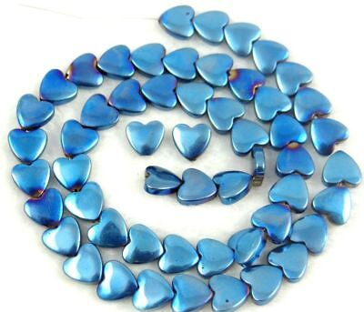 Titanium  Carved heart Hematite Gemstone loose beads 3 beads 8mm x 8mm j20